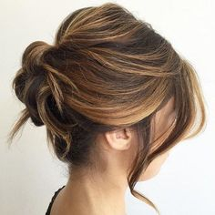 #27: Soft Wavy Updos Braids and colors aren't the only ways to make cute hairstyles for medium length hair unique; curls can also be manipulated into intricate designs. From coiled chignons to low buns and messy loose updos, the spiraled styles are sure to impress. #UpdosLoose
