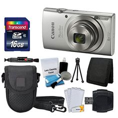 Canon PowerShot ELPH 180 Digital Camera (Silver) + Transcend 16GB Memory Card + Point & Shoot Camera Case + USB Card Reader + LCD Screen Protectors + Memory Card Wallet + Cleaning Pen + Accessory Kit http://cameras.henryhstevens.com/shop/canon-powershot-elph-180-digital-camera-silver-transcend-16gb-memory-card-point-shoot-camera-case-usb-card-reader-lcd-screen-protectors-memory-card-wallet-cleaning-pen-accessory/ https://images-na.ssl-images-amazon.com/images/I/51wD4i7cm