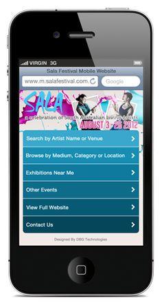 SALA Festival 2012 Mobile Website - home screen