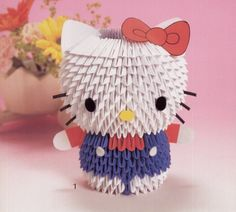 3D Origami   cute hello kitty and friends made of 3d origami if you want the ...