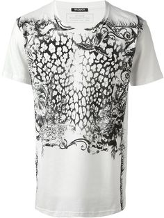 BALMAIN Jungle Print T-Shirt. #balmain #cloth #t-shirt