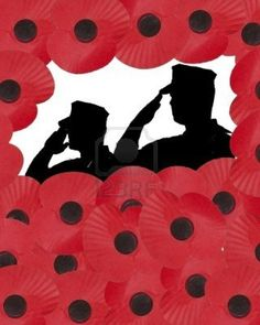 remembrance day art black white and red - Google Search