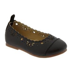 Old Navy Scalloped Eyelet Ballet Shoes For Baby - Black jack ($6.47) ❤ liked on Polyvore featuring kids, baby and baby shoes