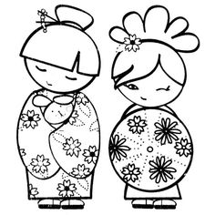 Awesome Kokeshi Coloriage that you must know, Youre in good company if you?re looking for Kokeshi Coloriage Colouring Pages, Coloring Books, Embroidery Patterns, Hand Embroidery, Doll Drawing, Asian Cards, Doodles, Asian Doll, Thinking Day