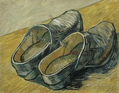 Vincent Van Gogh A Pair Of Leather Clogs oil painting reproductions for sale
