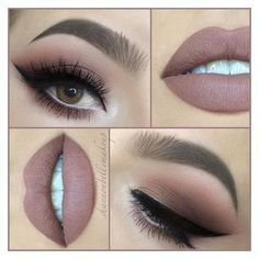 """Shannon Belle on Instagram """"Another day, another nude lip! With ❤ liked on Polyvore featuring beauty products, makeup, lip makeup, beauty and lips"""