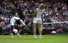 20 best Wimbledon moments: Martina Navratilova is congratulated by partner Leander Paes