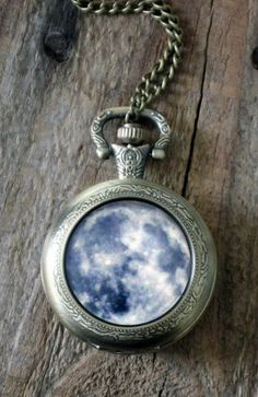 Space Pocket Watch Necklace