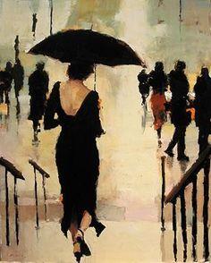 ~ Umbrella series- Sweet Surrender by Belfast artist Lorraine Christie Umbrella Art, Black Umbrella, Umbrella Painting, Foto Art, Amazing Art, Art Photography, Art Gallery, Illustration Art, My Arts