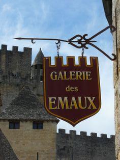 Castle sign Dordogne France