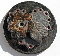 Handmade Stoneware Cabochon by LisaPetersArt on Etsy, $18.00