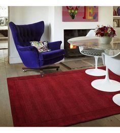 Sofiabrands -Woolen Red Hand Tufted Rugs