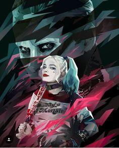 Fan art Harley Quinn y Joker - Suicide Squad Der Joker, Joker Und Harley Quinn, Harley Quinn Drawing, Joker Art, Joker Cosplay, Marvel Dc, Kate Jones, Hearly Quinn, Fantasy Anime