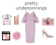 """""""dress"""" by renu-reddy ❤ liked on Polyvore featuring interior, interiors, interior design, home, home decor, interior decorating, Christian Siriano, Versace, Bobbi Brown Cosmetics and WithChic"""