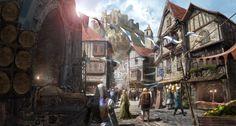 Medieval Village (2013), JM Ahn on ArtStation at http://www.artstation.com/artwork/medieval-village-2a5c7ced-7dd4-4415-9211-729c21841890
