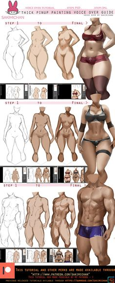 How to: paint thick Pinup voice over tut. by sakimichan on DeviantArt Drawing Skills, Drawing Poses, Drawing Techniques, Figure Drawing, Drawing Art, Digital Painting Tutorials, Digital Art Tutorial, Art Tutorials, Anatomy Reference