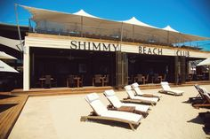 Shimmy Beach Club. Book a sun lounger for the day. Visit www.shimmybeachclub.co.za or download the Shimmy app Light Recipes, Beach Club, Sun Lounger, Gazebo, Deck, App, Outdoor Decor, Home, Skinny Recipes