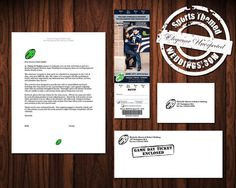 Football Themed Ticket-Style Wedding Invitation for NFL Football Fans.  Check us out on ESTY.  #stwdotcom  #footballwedding