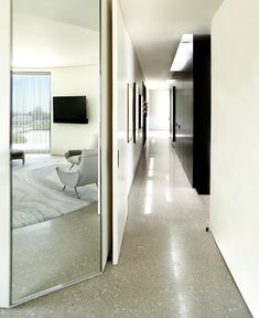 Beverly Hills Situated House Project by Dennis Gibbens Architects luxurious full light bedroom interior 2
