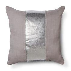 Nate Berkus� Metallic Mesh Pillow - Lavender