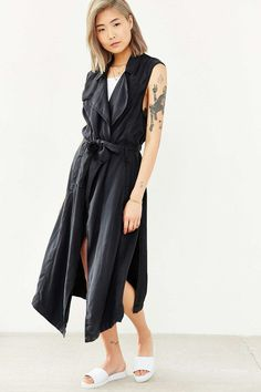 Silence + Noise Camille Washed Vest - Urban Outfitters