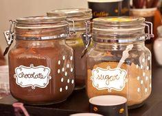 HOMEMADE  Etiquetas autoadhesivas para personalizar los frascos de tu cocina. Azucar, Sal, Pimenta, Pasta, puedes darle color con un toque casero!