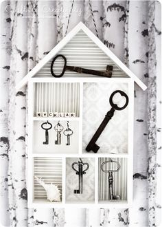 Key house by Craft & Creativity.  Cute way to display some of my skeleton keys.