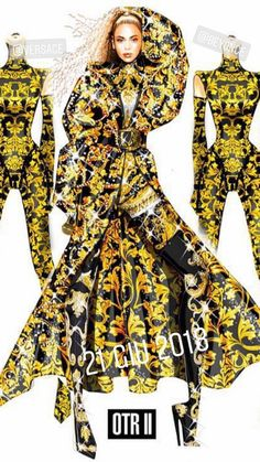 Fashion Design Drawings, Fashion Sketches, Costume Ideas, Costumes, Versace Dress, Atelier Versace, Designs To Draw, Beyonce, Collages