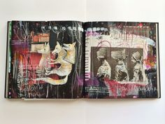 """small like the bone"" journal spread - by bun: artist Roxanne Coble"