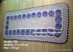 Jussara tapetes: Tapete ou passadeira floral - T96