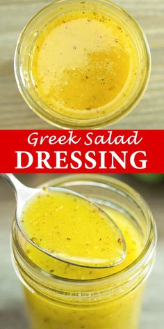 Greek Salad Dressing – a wonderful addition to any salad. Made with simple ingredients, this dressing is tasty and easy to make! FOLLOW Cooktoria for more deliciousness! #greek #salad #dressing #yummyrecipe #recipeoftheday Sauce Recipes, Cooking Recipes, Healthy Recipes, Kefir Recipes, Ham Recipes, Ninja Blender Recipes, Cucumber Recipes, Dandelion Recipes, Salad Dressing Recipes