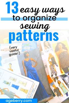 Check out this useful guide on how to organize sewing patterns. From useful and creative sewing pattern storage ideas to sewing pattern organization apps, you're sure to find a new system that works for you. All of our sewing areas are different from each other, so having a large variety of ideas to choose from will allow you to find the method that is most effective for you and your sewing room. Sewing Hems, Sewing Pockets, Sewing Elastic, Sewing Pants, Sewing Clothes, Sewing Pattern Storage, Sewing Patterns, Sewing For Dummies, Bias Tape