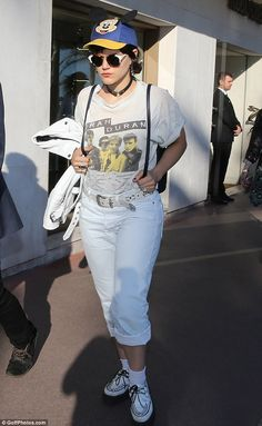 Feeling glum? Soko was pictured out and about at Cannes Film Festival in France on Sunday