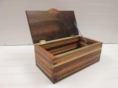 Wooden Box,  Desk Organizer, Wood Box, Scrap Wood Box, Wood strip box, Jewelry Box, Little Wood Box