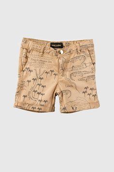 Chino Shorts Croco Map AOP - Mini Rodini
