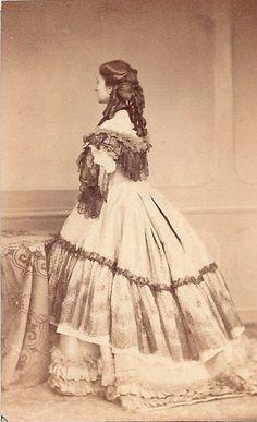 Ghémar L.-J, Calling-card portrait: Eugénie Doche (La Dame aux Camélias)