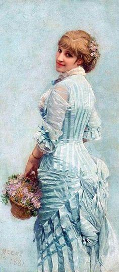 Unknown title by Jan van Beers, 1881 Paris.