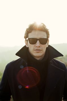 James Franco...Love him but LOVE the sun flare in the photograph