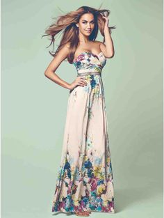 The most perfect dress for a summer wedding! Floral Print Embellished Maxi Dress   Jane Norman