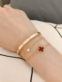 81a64ad5a Cartier slim love bracelet, Tiffany & Co. diamonds by the yard and Van Cleef