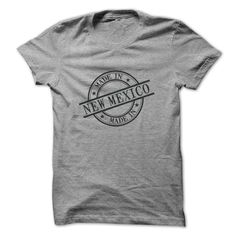 (Males's T-Shirt) Made In New Mexico Stamp Style Logo Symbol Black - Gross sales...