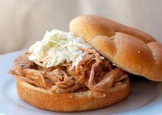 Recipe for Slow Cooker Pulled Pork Sandwich