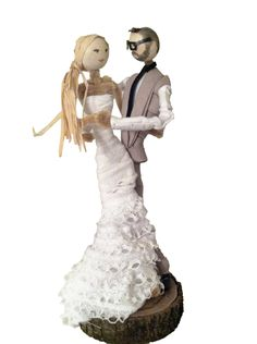 Custom Wedding Cake Topper...something about this one...it's cool