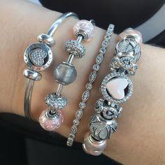 >>>Pandora Jewelry OFF! Pandora Bangle, Pandora Beads, Pandora Bracelet Charms, Pandora Jewelry, Charm Bracelets, Cute Jewelry, Charm Jewelry, Bridal Jewelry, Fancy Jewellery