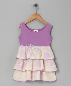 Take a look at this Purple & Yellow Organic Havana Dress - Toddler by Barn Organics on #zulily today!  Probably easy enough to make by adding fabric to a tank