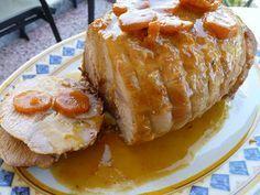 Mari Plateau: Ρολό χοιρινό με μουστάρδα Greek Desserts, Greek Recipes, Meat Recipes, Baking Recipes, Food Processor Recipes, Pork Dishes, Sweet And Salty, Diy Food, Food To Make