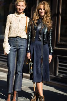 Paris street style 2016 Clothing, Shoes & Jewelry - Women - women's jeans - http://amzn.to/2jzIjoE