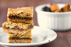 I've lost my fig bar recipe, but this looks very similar. Homemade fig bars are way (way!) better than store bought, and you can reduce the sugar a bit, if desired. Fig Cookies, Cookies Et Biscuits, Fig Newton Bars, Just Desserts, Delicious Desserts, Sweet Desserts, Sweet Recipes, Yummy Food, Homemade Fig Newtons
