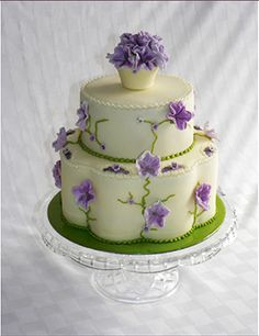 spring Wedding Cakes | wedding cakes | wedding cake by Patricia Cake Creation 2011 | 2 Tier ...