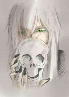 Black Butler ~~ In the manga, Grell exclaims that the Undertaker's eyes are a phosphor-green that ONLY a shinigami's eyes could be. So why don't any of the others have that color eyes, too?